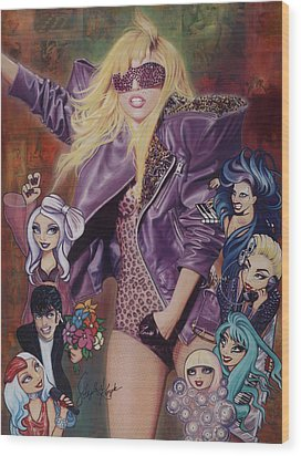 Gaga And The Seven Monsters Wood Print by Stapler-Kozek