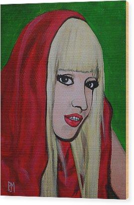 Gaga Hood Wood Print by Pete Maier
