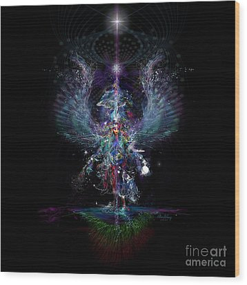 Gaia Birthing New Earth Wood Print