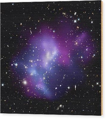 Galaxy Cluster Macs J0717 Wood Print by Nasacxcstscima Et Al