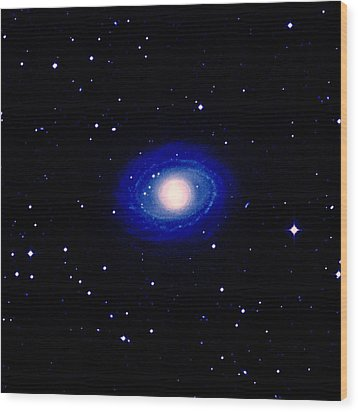 Galaxy Ngc 1398 Wood Print by Celestial Image Co.