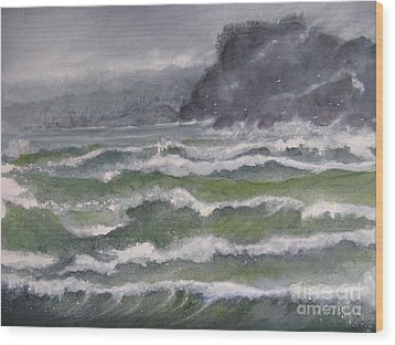 Gale Force Wood Print
