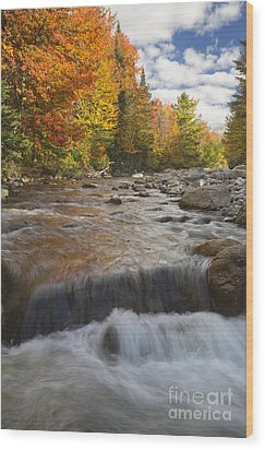 Gale River - White Mountains New Hampshire Wood Print by Erin Paul Donovan