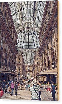 Galleria Vittorio Emanuele Wood Print by Benjamin Matthijs