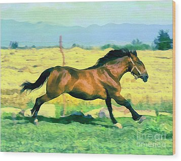 Gallope Wood Print by Odon Czintos