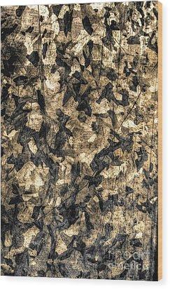 Galvanized Wood Print by Michael Garyet