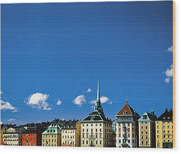 Gamia Stan Main Square Wood Print by Axiom Photographic