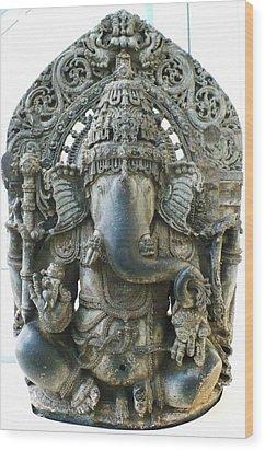 Ganesha Wood Print by James Mancini Heath