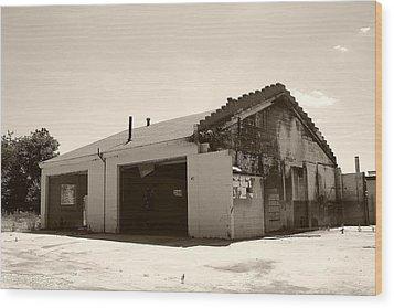 Garage No More Wood Print by Nina Fosdick