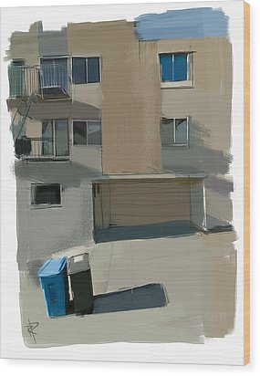 Garbage Day On Dolores Street Wood Print by Russell Pierce