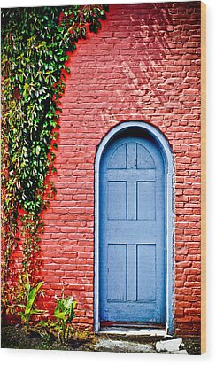 Garden House Wood Print