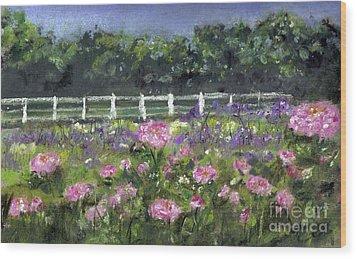 Garden In Vernfield Wood Print