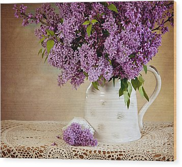 Wood Print featuring the photograph Garden Lilac by Cheryl Davis