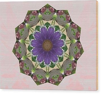 Garden Mandala... Wood Print by Rene Crystal