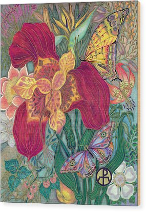 Garden Of Eden - Flower Wood Print