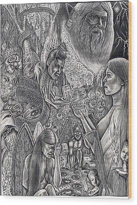 Garden Of Eden Wood Print by Vincnt Clark