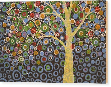 Garden Of Moons #1 Wood Print by Amy Giacomelli