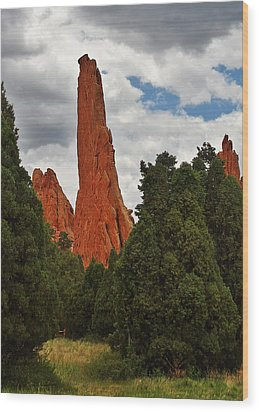 Garden Of The Gods - A Breathtaking Natural Wonder Wood Print by Christine Till