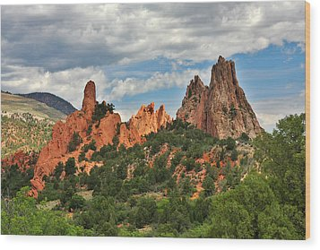 Garden Of The Gods - Colorado Springs Co Wood Print by Christine Till