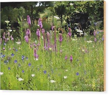 Garden On Bergey Road Wood Print