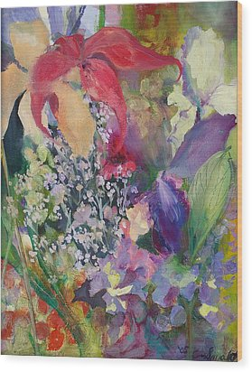 Garden Party Wood Print by Claudia Smaletz