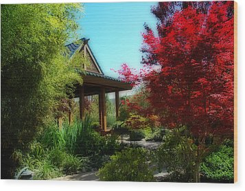 Garden Retreat Wood Print by Lynn Bauer