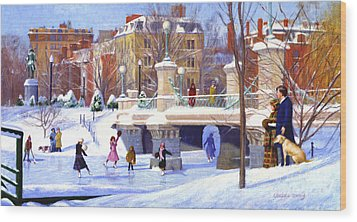 Garden Skaters Wood Print by Candace Lovely