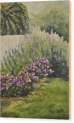 Garden Splendor Wood Print by Sandy Fisher