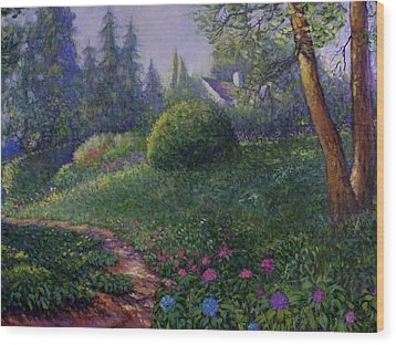 Wood Print featuring the painting Garden Trail by Charles Munn