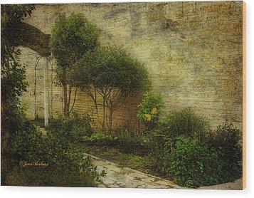 Wood Print featuring the photograph Garden Walk by Joan Bertucci