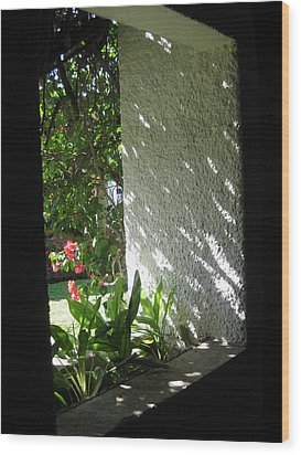 Garden Window Wood Print