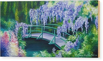 Gardens Of Givernia II Wood Print by James Christopher Hill