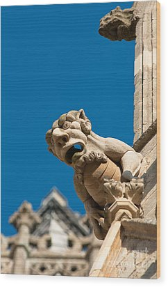 Wood Print featuring the photograph Gargoyle by Andrew  Michael