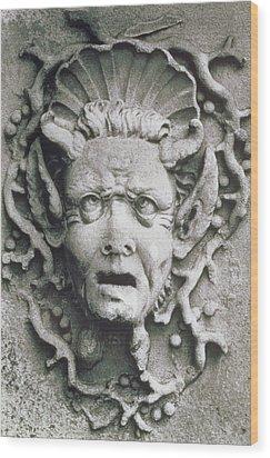 Gargoyle Wood Print by Simon Marsden