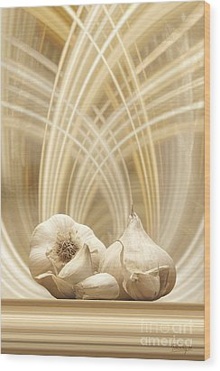 Wood Print featuring the digital art Garlic by Johnny Hildingsson