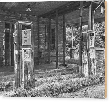 Gas Pumps Wood Print