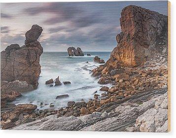 Gate In The Ocean Wood Print by Evgeni Dinev