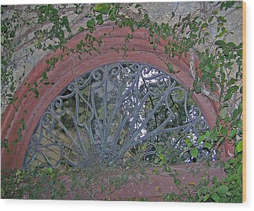 Gate To The Courtyard Wood Print by Patricia Taylor