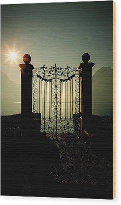 Gateway To The Lake Wood Print by Joana Kruse
