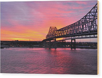 Wood Print featuring the photograph Gateway To The West Bank From Nola by Helen Haw
