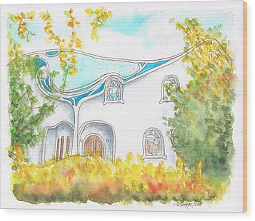 Gaudi In Beverly Hills - California Wood Print by Carlos G Groppa