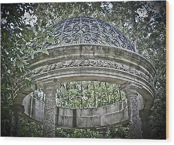 Gazebo At Longwood Gardens Wood Print