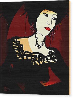 Geisha 1 Wood Print by Natalie Holland