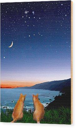 Gemini Wood Print by Kathleen Horner