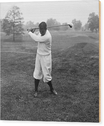 Wood Print featuring the photograph Gene Sarazen - Professional Golfer by International  Images