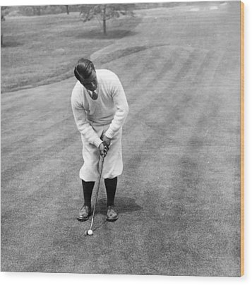 Wood Print featuring the photograph Gene Sarazen Playing Golf by International  Images