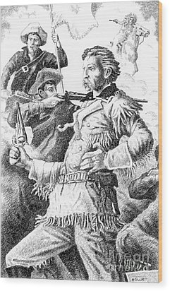 General Custer's Last Stand Wood Print by Gordon Punt