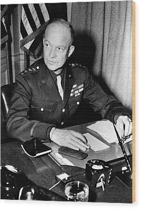 General Dwight D. Eisenhower, January Wood Print by Everett