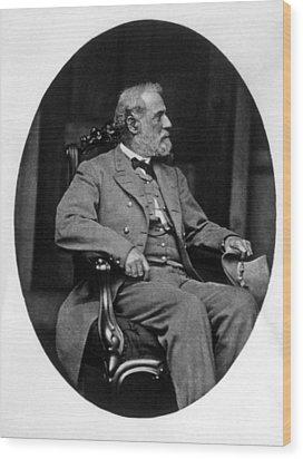 General Robert E. Lee 1807-1870 Wood Print by Everett