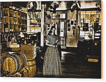 General Store Harpers Ferry Wood Print by Bill Cannon